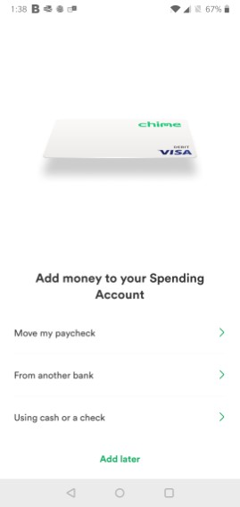 Chime Add Money To Your Spending Account
